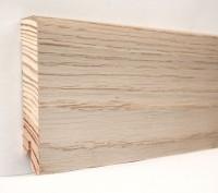 Плинтус деревянный шпонированный Ключук (Kluchuk) Модерн Дуб выбеленный 80х18х2400