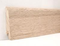 Плинтус деревянный шпонированный Ключук (Kluchuk) Евро Дуб выбеленный  60х18х2400