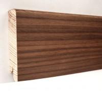 Плинтус деревянный шпонированный Ключук (Kluchuk) Модерн Орех американский 80х18х2400