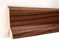 Плинтус деревянный шпонированный Ключук (Kluchuk) Классика Орех американский 60х21х2400