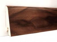 Плинтус деревянный шпонированный Ключук (Kluchuk) Евро Орех американский 60х18х2400