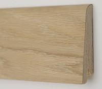 Плинтус деревянный шпонированный Ключук (Kluchuk) Рустик Дуб шлифованный 80х19х2200