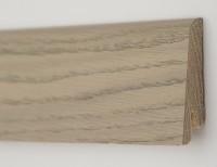 Плинтус деревянный шпонированный Ключук (Kluchuk) Рустик Дуб серебряный 80х19х2200