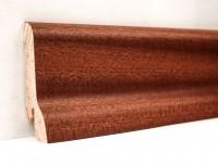 Плинтус деревянный шпонированный Ключук (Kluchuk) Классика Сапели 60х21х2400