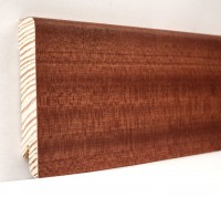 Плинтус деревянный шпонированный Ключук (Kluchuk) Модерн Сапели 80х18х2400