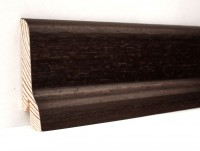 Плинтус деревянный шпонированный Ключук (Kluchuk) Классика Венге 60х21х2400