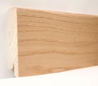 Плинтус деревянный шпонированный Ключук (Kluchuk) Модерн Ясень натуральный 80х18х2400