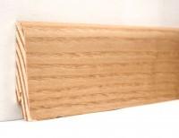 Плинтус деревянный шпонированный Ключук (Kluchuk) Евро Ясень натуральный 60х18х2400