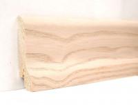 Плинтус деревянный шпонированный Ключук (Kluchuk) Классика Ясень выбеленный 60х21х2400