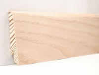 Плинтус деревянный шпонированный Ключук (Kluchuk) Евро Ясень выбеленный 60х18х2400