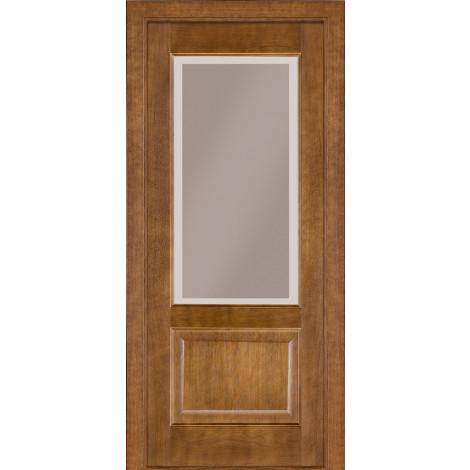 Фото - Дверь межкомнатная модель 04 (глухая/остекленная) дуб тонированный Terminus