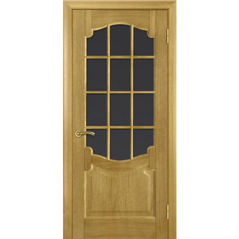 Фото - Дверь межкомнатная модель 37 (глухая/остекленная) дуб браун Terminus