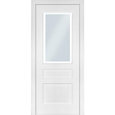 Фото - Дверь межкомнатная модель 102 (глухая/остекленная) ясень белый эмаль Terminus