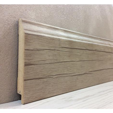 Фото - Плинтус Супер Профиль Старое Дерево 2800x95x16 Серо коричневый 1695sd