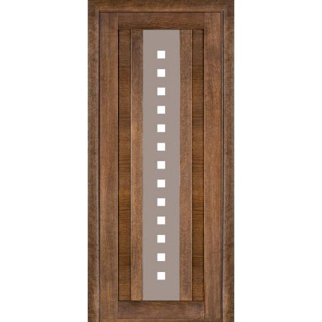 Фото - Дверь межкомнатная модель 175 (глухая/остекленная) дуб браун Terminus