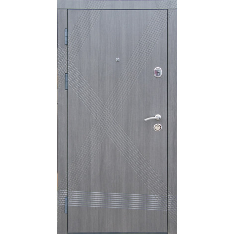 Входная дверь REDFORT Диагональ Серый (эко каштан) (Премиум)