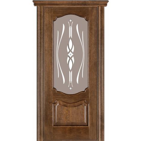 Фото - Дверь межкомнатная модель 41 (глухая/остекленная) дуб браун Terminus