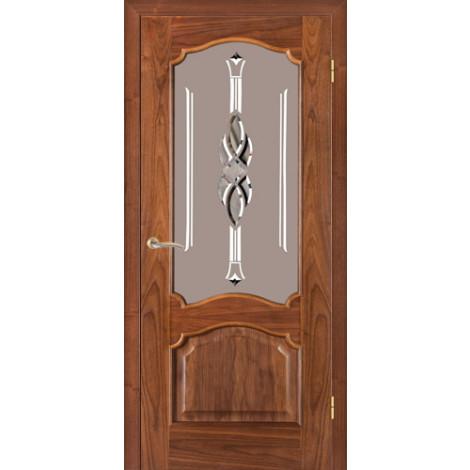 Фото - Дверь межкомнатная модель 42 (глухая/остекленная) орех американский Terminus