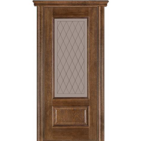 Фото - Дверь межкомнатная модель 52 (глухая/остекленная) дуб браун Terminus