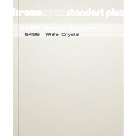 Фото - Панель ламинированная МДФ KronoSpan 2600x200x8 Белый кристал 6486