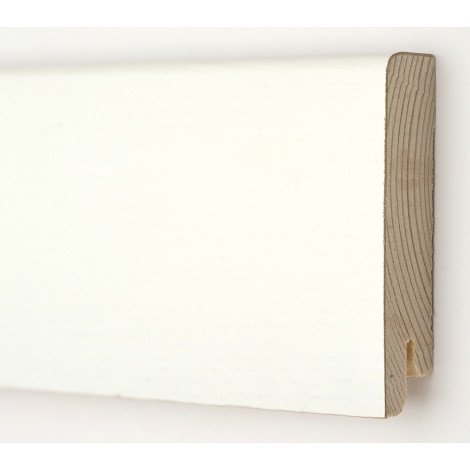 Фото - Плинтус деревянный шпонированный Kluchuk Модерн Белый 80х18х2400 Белый KLM8012