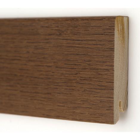 Плинтус деревянный шпонированный Kluchuk Модерн Дуб браун 80х18х2400 Коричневый KLM8013