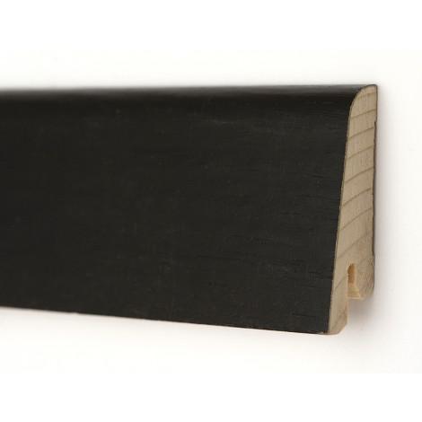 Плинтус деревянный шпонированный Kluchuk Евро Дуб черный 60х18х2400 Черный KLE6016