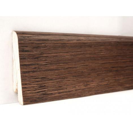 Фото - Плинтус деревянный шпонированный Kluchuk Евро Дуб Какао 60х18х2400 коричневый KLE6010