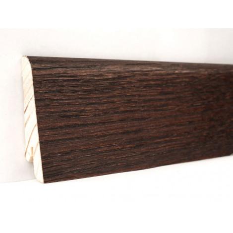 Фото - Плинтус деревянный шпонированный Kluchuk Евро Дуб Коньяк 60х18х2400 Темно коричневый KLE6011