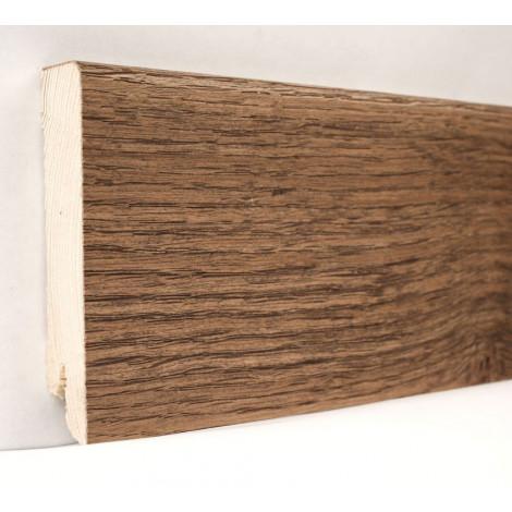 Плинтус деревянный шпонированный Kluchuk Модерн Дуб Мокка 80х18х2400 Коричневый KLM8009