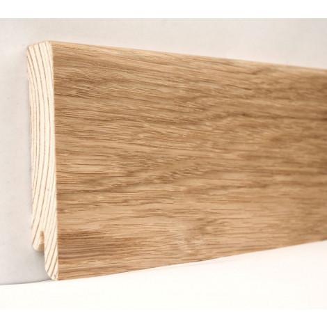 Фото - Плинтус деревянный шпонированный Kluchuk Модерн Дуб натуральный 80х18х2400 Светло коричневый KLM8001