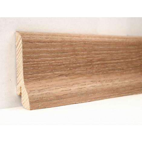 Фото - Плинтус деревянный шпонированный Kluchuk Классика Дуб патина 60х21х2400 Светло коричневый KLK6003