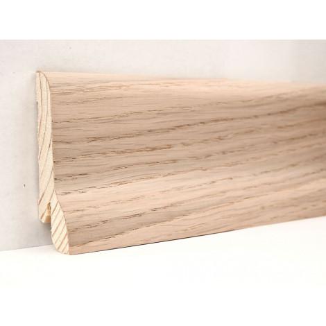 Фото - Плинтус деревянный шпонированный Kluchuk Классика Дуб выбеленный 60х21х2400 Светло коричневый KLK6002