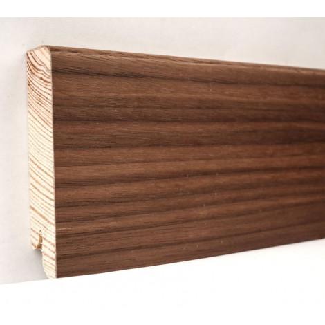 Фото - Плинтус деревянный шпонированный Kluchuk Модерн Орех американский 80х18х2400 Коричневый KLM8006