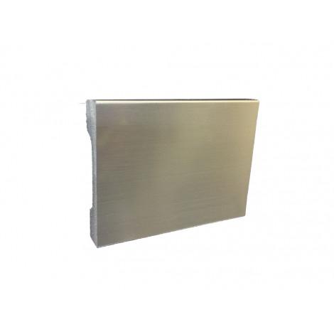 Фото - Плинтус Cezar Elegance серебрянный брашированный 2000x69,7x15,8 Серебро LPC23s