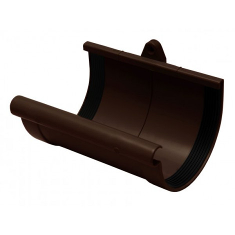 Фото - Муфта желоба 130мм RAINWAY коричневый