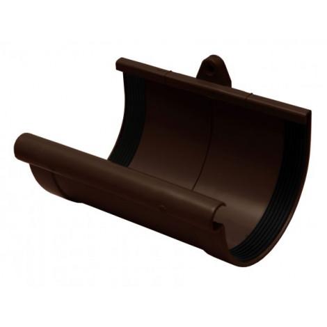 Фото - Муфта желоба 90мм RAINWAY коричневый