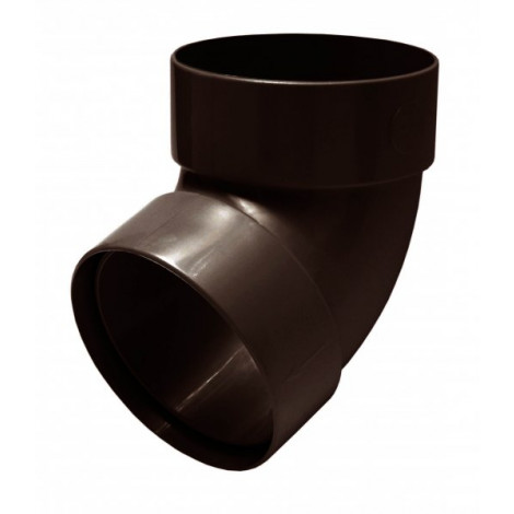 Фото - Отвод трубы двомуфтный 67° 75мм RAINWAY коричневый