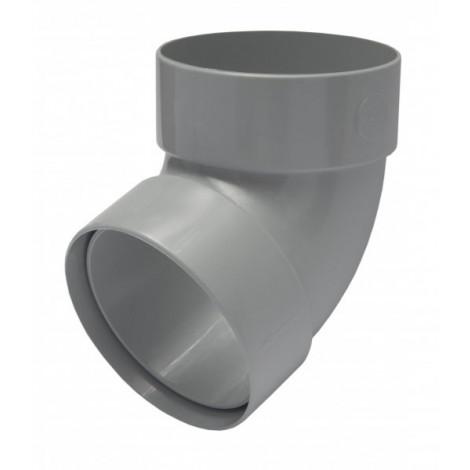 Фото - Отвод трубы двомуфтный 67° 75мм RAINWAY серый