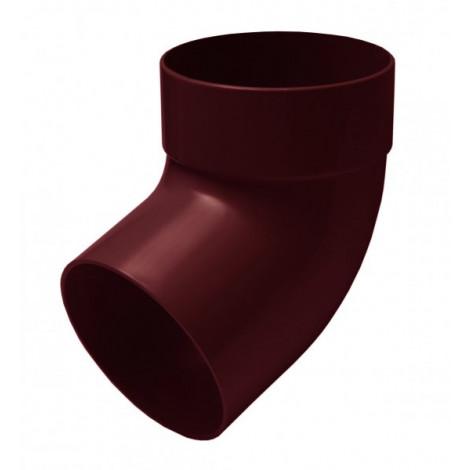 Фото - Отвод трубы одномуфтный 67° 100мм RAINWAY красный