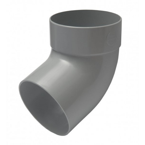 Фото - Отвод трубы одномуфтный 67° 100мм RAINWAY серый