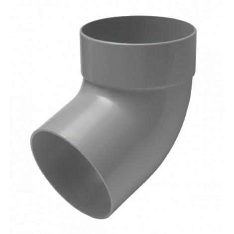 Фото - Отвод трубы одномуфтный 67° 75мм RAINWAY серый