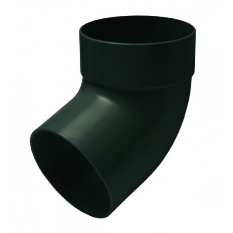Фото - Отвод трубы одномуфтный 67° 75мм RAINWAY зелёный