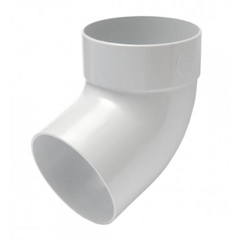 Фото - Отвод трубы одномуфтный 67° 75мм RAINWAY белый
