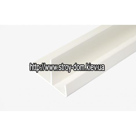 Фото - Профиль ПВХ F-полоса широкая белая ( 3 м.п. )