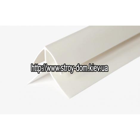 Фото - Профиль ПВХ угол наружный белый ( 3 м.п. ) 1224