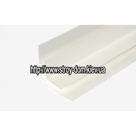 Фото - Профиль ПВХ угол внутренний белый ( 3 м.п. )