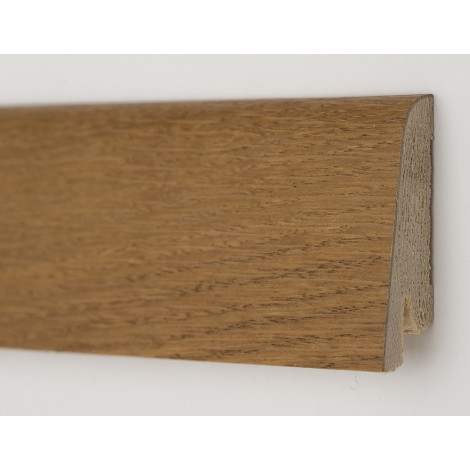 Фото - Плинтус деревянный шпонированный Kluchuk Рустик Дуб медовый 80х19х2200 Коричневый KLR8008