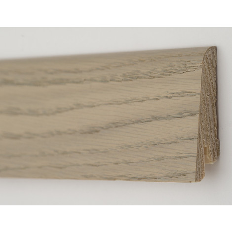 Фото - Плинтус деревянный шпонированный Kluchuk Рустик Дуб серебряный 60х19х2200 Серо Коричневый KLR6005