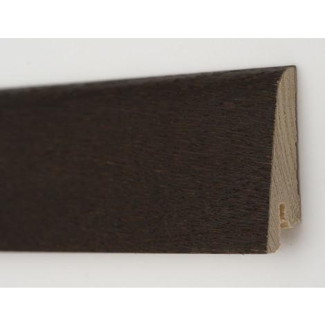 Фото - Плинтус деревянный шпонированный Kluchuk Рустик Дуб термо 80х19х2200 Темно коричневый KLR8010